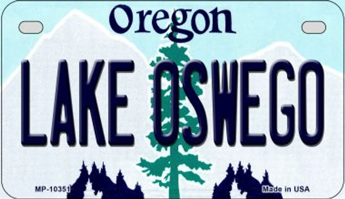 Lake Oswego Oregon Novelty Metal Motorcycle Plate MP-10351