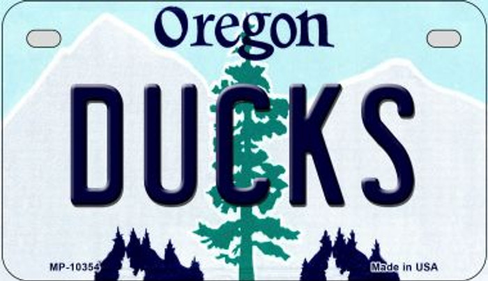 Ducks Oregon Novelty Metal Motorcycle Plate MP-10354