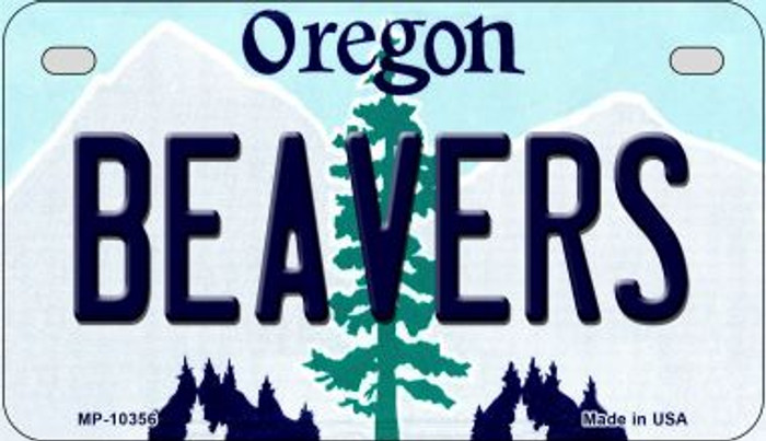 Beavers Oregon Novelty Metal Motorcycle Plate MP-10356