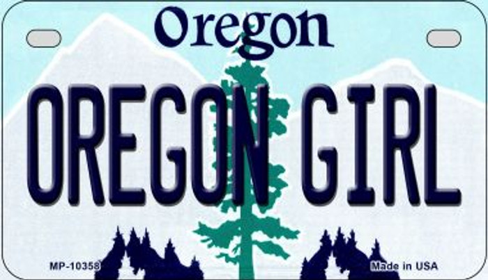 Oregon Girl Novelty Metal Motorcycle Plate MP-10358
