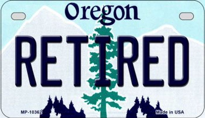 Retired Oregon Novelty Metal Motorcycle Plate MP-10362