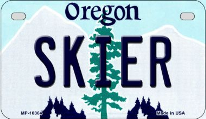 Skier Oregon Novelty Metal Motorcycle Plate MP-10364