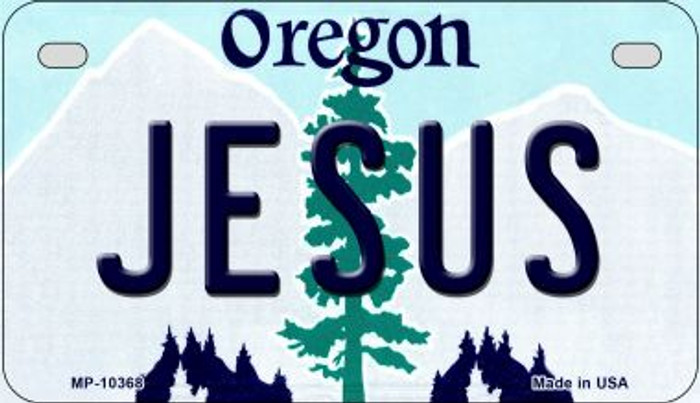 Jesus Oregon Novelty Metal Motorcycle Plate MP-10368