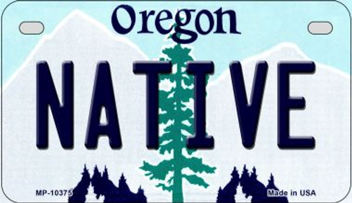 Native Oregon Novelty Metal Motorcycle Plate MP-10375