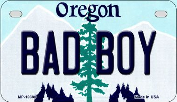 Bad Boy Oregon Novelty Metal Motorcycle Plate MP-10380