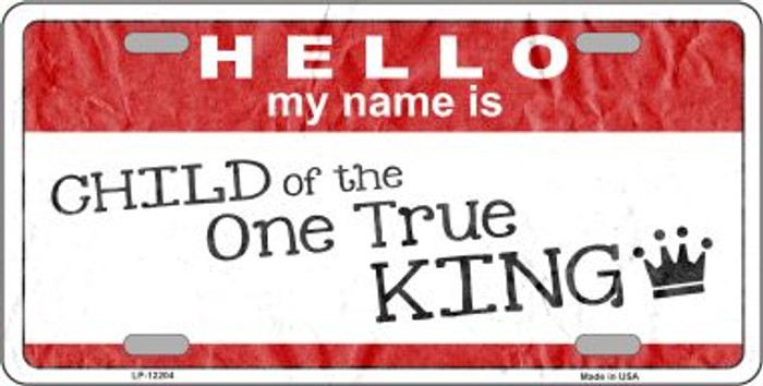 One True King Novelty Metal License Plate LP-12204