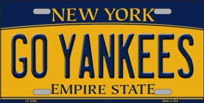 Go Yankees New York Novelty Metal License Plate LP-12209