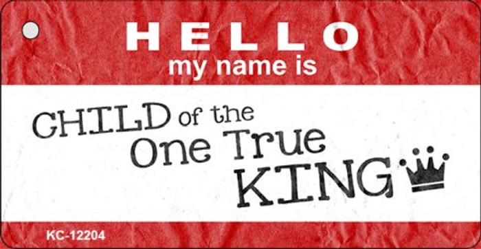 One True King Novelty Metal Key Chain KC-12204