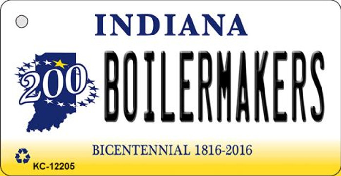 Boilermakers Indiana Novelty Metal Key Chain KC-12205