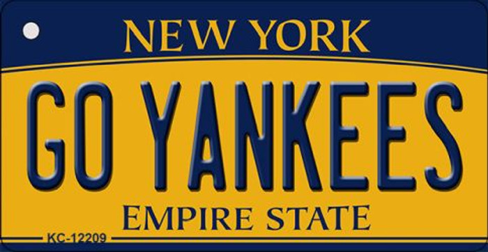 Go Yankees New York Novelty Metal Key Chain KC-12209