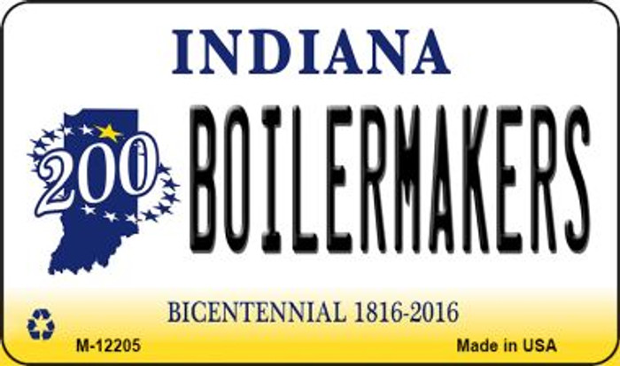 Boilermakers Indiana Novelty Metal Magnet M-12205