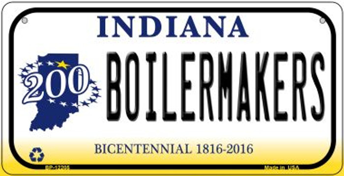 Boilermakers Indiana Novelty Metal Bicycle Plate BP-12205