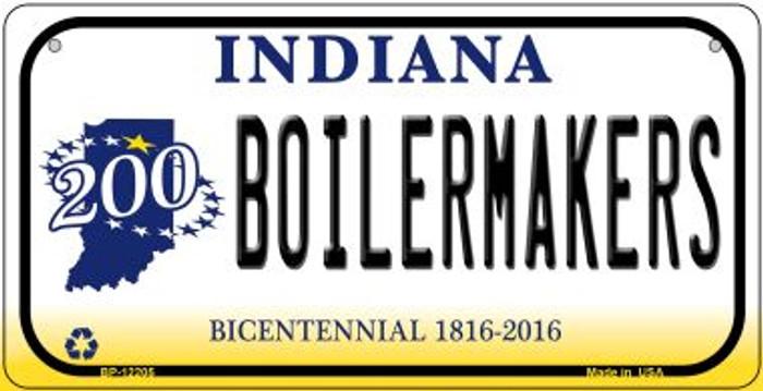 Boilermakers Indiana Novelty Metal Bicycle Plate BP-12205