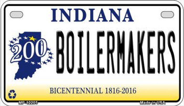 Boilermakers Indiana Novelty Metal Motorcycle Plate MP-12205