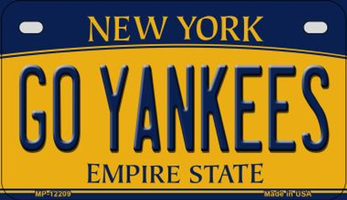 Go Yankees New York Novelty Metal Motorcycle Plate MP-12209