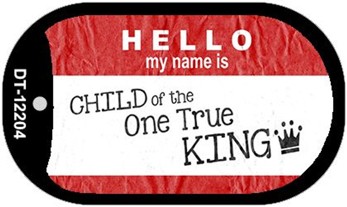 One True King Novelty Metal Dog Tag Necklace DT-12204