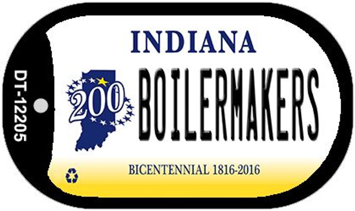 Boilermakers Indiana Novelty Metal Dog Tag Necklace DT-12205