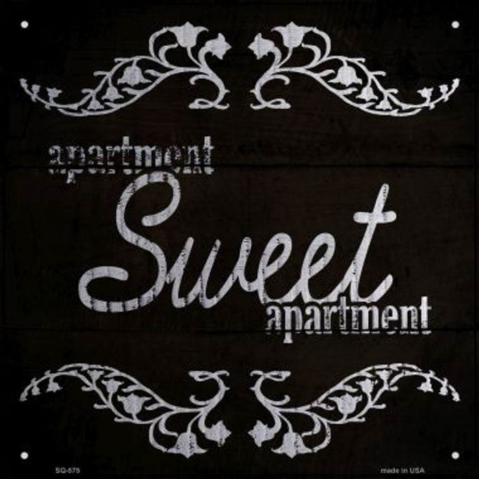 Sweet Apartment Novelty Metal Square Sign SQ-575