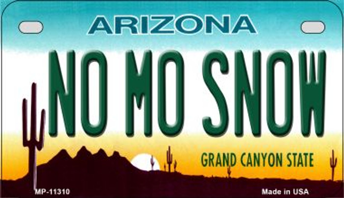 No Mo Snow Novelty Metal Motorcycle Plate MP-11310