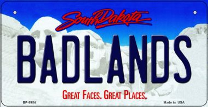 Badlands South Dakota Novelty Metal Bicycle Plate BP-9954