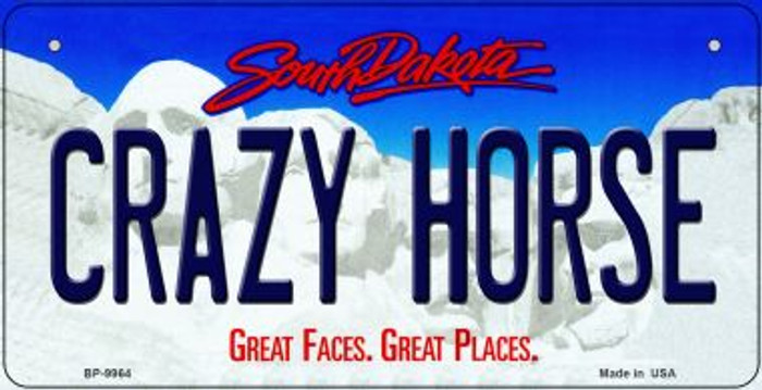 Crazy Horse South Dakota Novelty Metal Bicycle Plate BP-9964