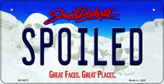 Spoiled South Dakota Novelty Metal Bicycle Plate BP-9973