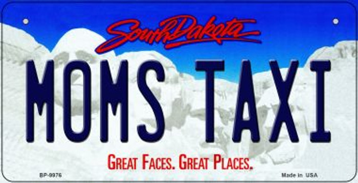 Moms Taxi South Dakota Novelty Metal Bicycle Plate BP-9976