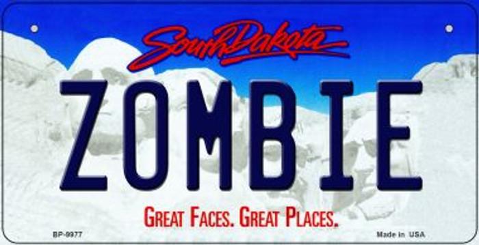 Zombie South Dakota Novelty Metal Bicycle Plate BP-9977