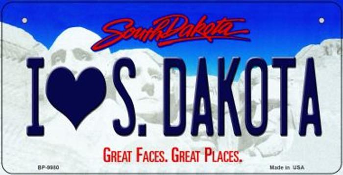 I Love South Dakota Novelty Metal Bicycle Plate BP-9980