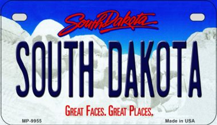 South Dakota Novelty Metal Motorcycle Plate MP-9955