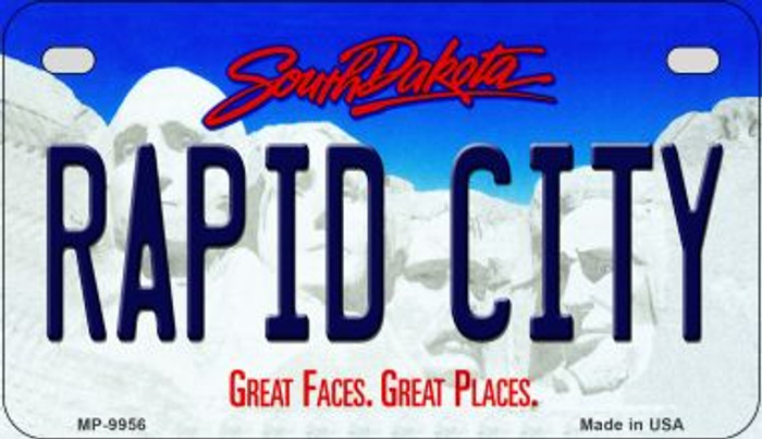 Rapid City South Dakota Novelty Metal Motorcycle Plate MP-9956