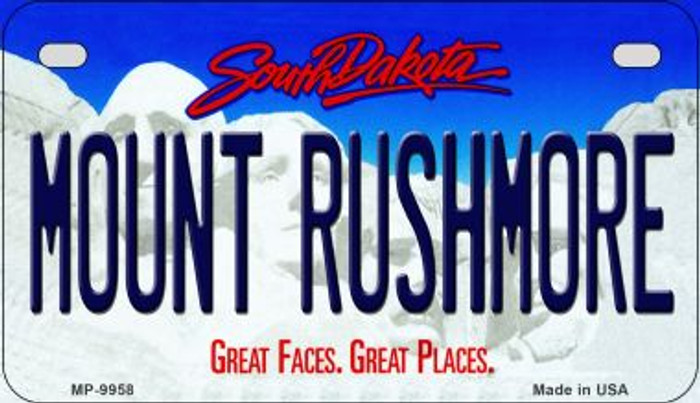 Mount Rushmore South Dakota Novelty Metal Motorcycle Plate MP-9958