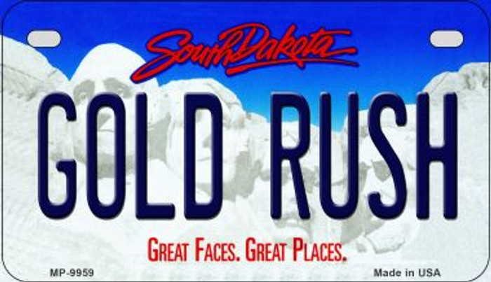 Gold Rush South Dakota Novelty Metal Motorcycle Plate MP-9959