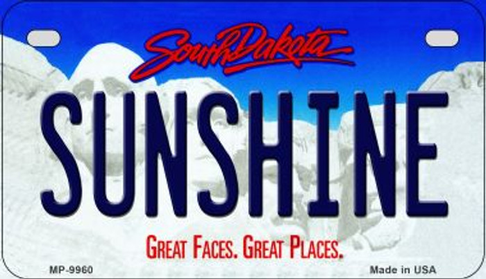 Sunshine South Dakota Novelty Metal Motorcycle Plate MP-9960