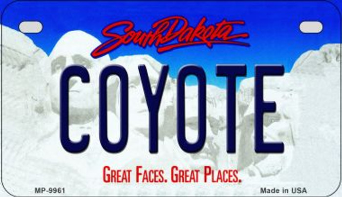 Coyote South Dakota Novelty Metal Motorcycle Plate MP-9961
