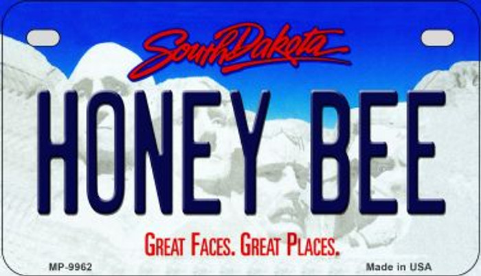 Honey Bee South Dakota Novelty Metal Motorcycle Plate MP-9962