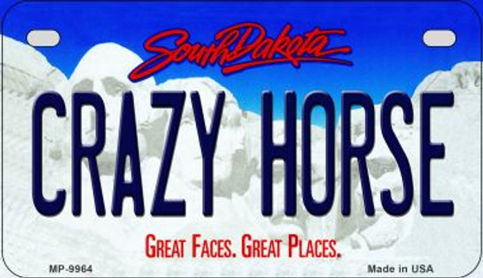Crazy Horse South Dakota Novelty Metal Motorcycle Plate MP-9964