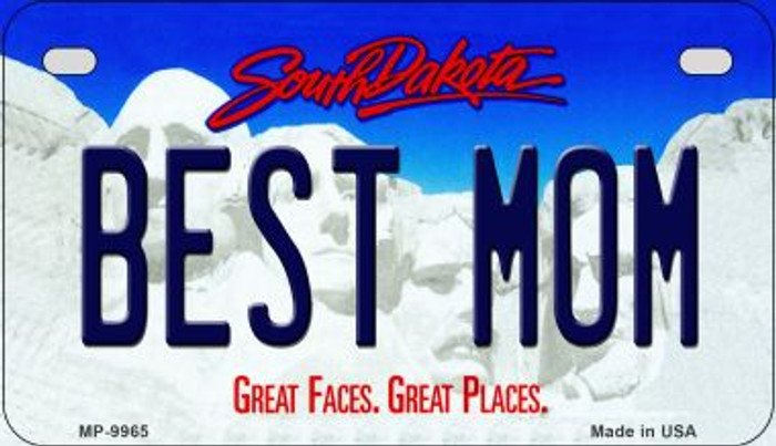 Best Mom South Dakota Novelty Metal Motorcycle Plate MP-9965