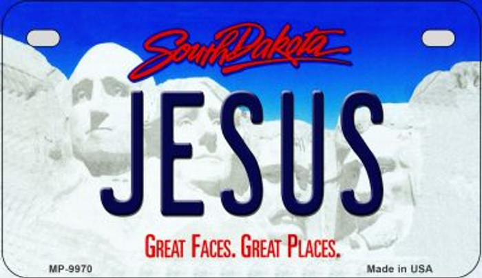 Jesus South Dakota Novelty Metal Motorcycle Plate MP-9970