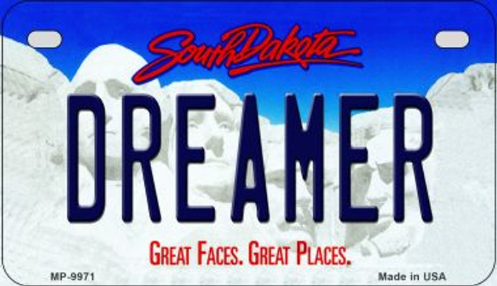 Dreamer South Dakota Novelty Metal Motorcycle Plate MP-9971