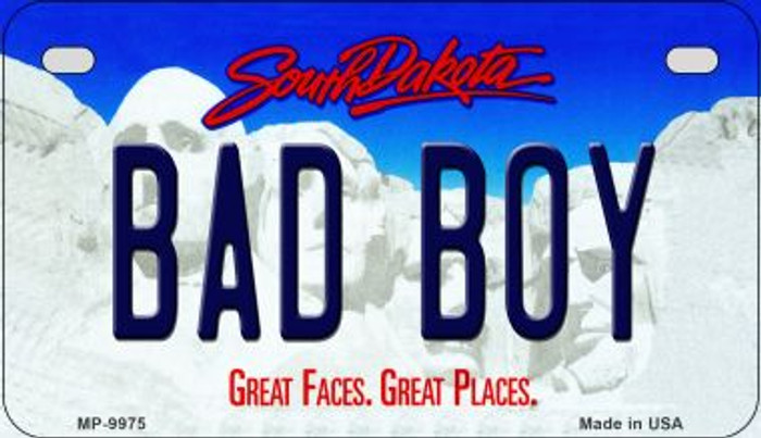 Bad Boy South Dakota Novelty Metal Motorcycle Plate MP-9975