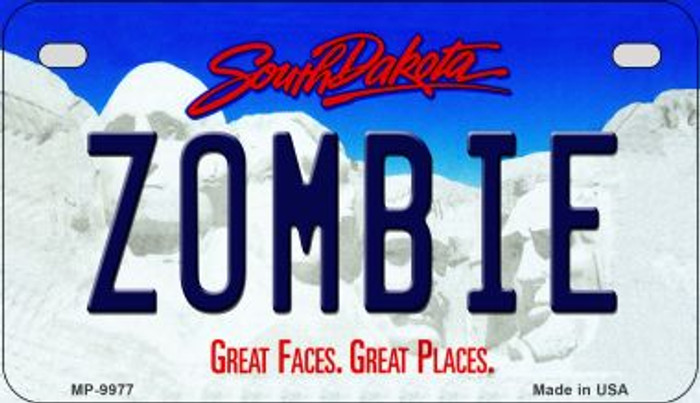 Zombie South Dakota Novelty Metal Motorcycle Plate MP-9977