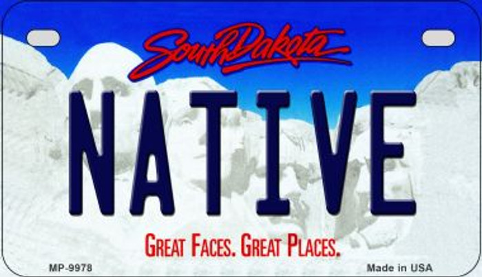 Native South Dakota Novelty Metal Motorcycle Plate MP-9978