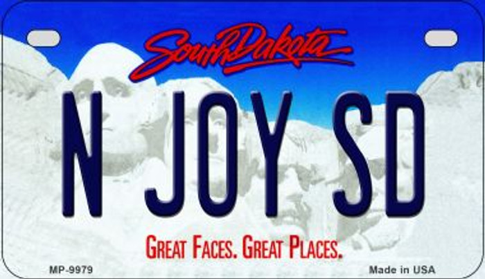 N Joy SD South Dakota Novelty Metal Motorcycle Plate MP-9979