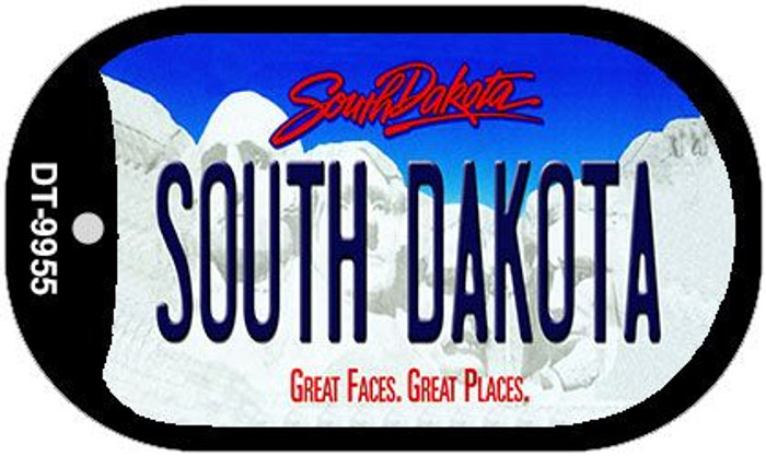 South Dakota Novelty Metal Dog Tag Necklace DT-9955