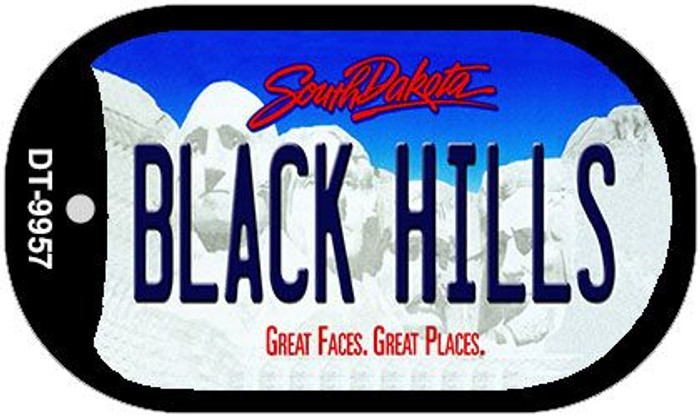 Black Hills South Dakota Novelty Metal Dog Tag Necklace DT-9957