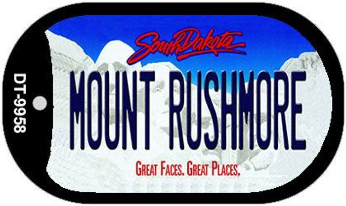 Mount Rushmore South Dakota Novelty Metal Dog Tag Necklace DT-9958