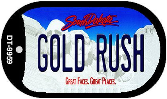 Gold Rush South Dakota Novelty Metal Dog Tag Necklace DT-9959