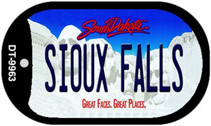 Sioux Falls South Dakota Novelty Metal Dog Tag Necklace DT-9963