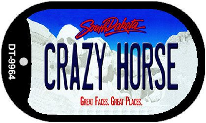 Crazy Horse South Dakota Novelty Metal Dog Tag Necklace DT-9964